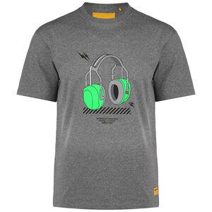 CAT Headphones T-Shirt Herren, grau / grün, zoom bei OUTFITTER Online