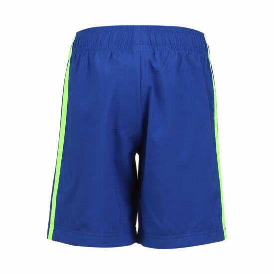 Essentials Woven Trainingsshort Kinder, blau / hellgrün, zoom bei OUTFITTER Online