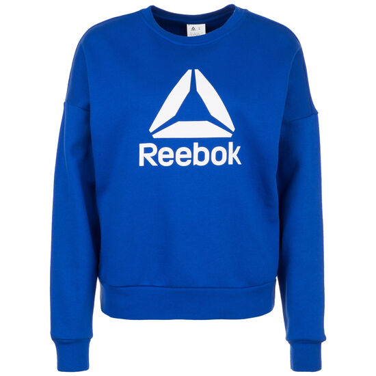 Workout Ready Big Logo Cover-Up Sweatshirt Damen, blau / weiß, zoom bei OUTFITTER Online