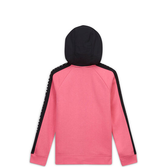 Kylian Mbappé Hybrid Fleece Kapuzenjacke Kinder, pink / schwarz, zoom bei OUTFITTER Online