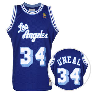 NBA Los Angeles Lakers 2.0 Shaquille O'Neal Trikot Herren, blau / weiß, zoom bei OUTFITTER Online