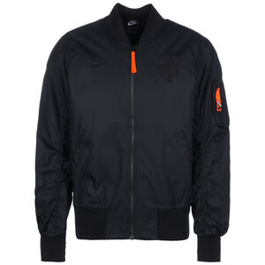 Niederlande Woven AF1 Jacke EM 2021 Herren, schwarz / orange, zoom bei OUTFITTER Online