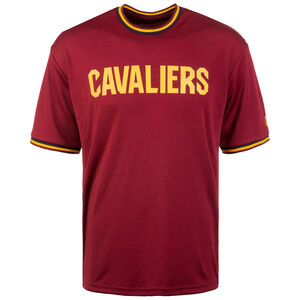 NBA Tipping Wordmark Cleveland Cavaliers T-Shirt Herren, rot / gelb, zoom bei OUTFITTER Online