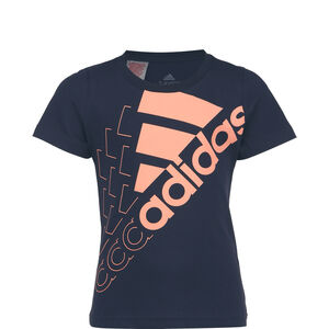 Essentials Logo T-Shirt Kinder, dunkelblau / rosa, zoom bei OUTFITTER Online