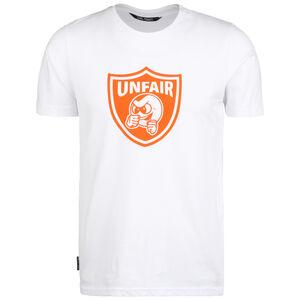 Punchingball Emblem T-Shirt Herren, weiß / orange, zoom bei OUTFITTER Online