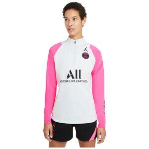Paris St.-Germain Academy Pro Drill Trainingssweat Damen, hellgrau / pink, zoom bei OUTFITTER Online