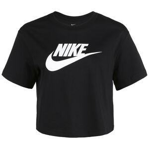 Essential Cropped T-Shirt Damen, schwarz / weiß, zoom bei OUTFITTER Online