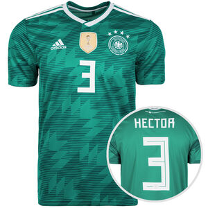 DFB Trikot Away Hector WM 2018 Herren, Grün, zoom bei OUTFITTER Online