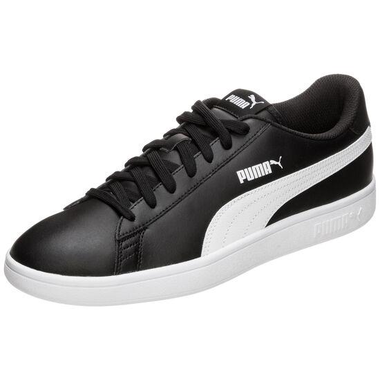 Smash v2 Leather Sneaker, schwarz / weiß, zoom bei OUTFITTER Online