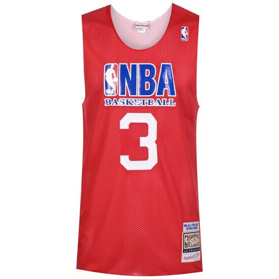 NBA All Star #3 Patrick Ewing Reversible Practice Basketballtrikot Herren, rot, zoom bei OUTFITTER Online