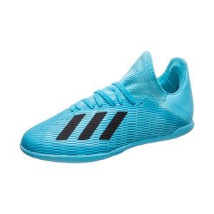 X 19.3 Indoor Fußballschuh Kinder, hellblau / schwarz, zoom bei OUTFITTER Online
