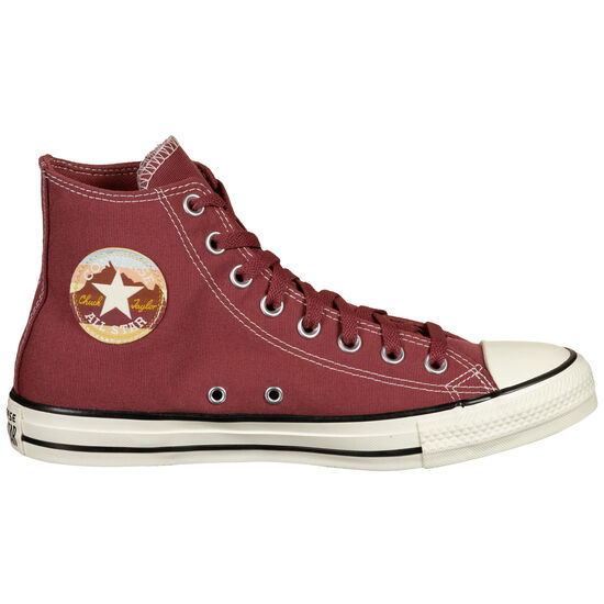 Chuck Taylor All Star National Parks Patch High Sneaker, bordeaux / weiß, zoom bei OUTFITTER Online
