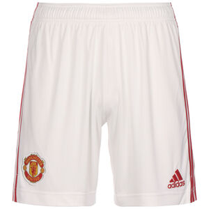 Manchester United Shorts Home 2021/2022 Herren, weiß / rot, zoom bei OUTFITTER Online