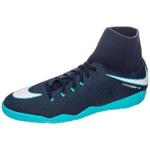 HypervenomX Phelon III DF Indoor Fußballschuh Herren, Blau, zoom bei OUTFITTER Online
