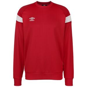 Poly Fleece Trainingssweat Herren, rot / weiß, zoom bei OUTFITTER Online