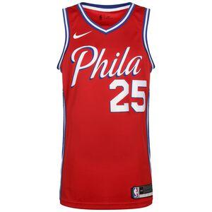 NBA Philadelphia 76ers Ben Simmons Swingman Basketballtrikot Herren, rot / weiß, zoom bei OUTFITTER Online