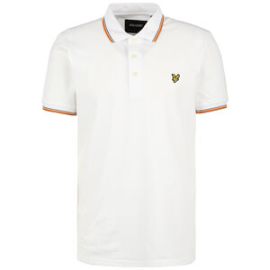 Tipped Poloshirt Herren, weiß / pink, zoom bei OUTFITTER Online