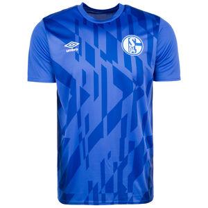 FC Schalke 04 Warm Up Trainingsshirt Herren, blau / weiß, zoom bei OUTFITTER Online