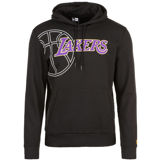 NBA Graphic Los Angeles Lakers Kapuzenpullover, schwarz / lila, zoom bei OUTFITTER Online
