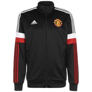 Manchester United 3-Streifen Trainingsjacke Herren, schwarz / rot, zoom bei OUTFITTER Online