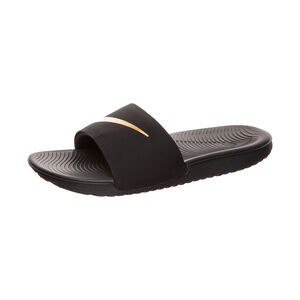 Kawa Slide Badesandale Kinder, schwarz / gold, zoom bei OUTFITTER Online
