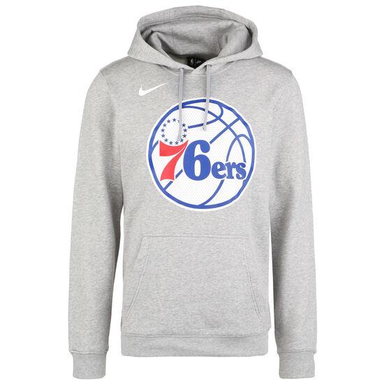 NBA Philadelphia 96ers Logo Fleece Kapuzenpullover Herren, grau, zoom bei OUTFITTER Online