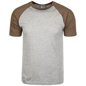 Raglan Contrast T-Shirt Herren, grau / khaki, zoom bei OUTFITTER Online
