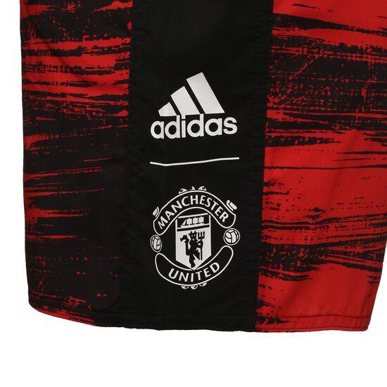 Manchester United CLX Badeshorts Herren, rot / schwarz, zoom bei OUTFITTER Online