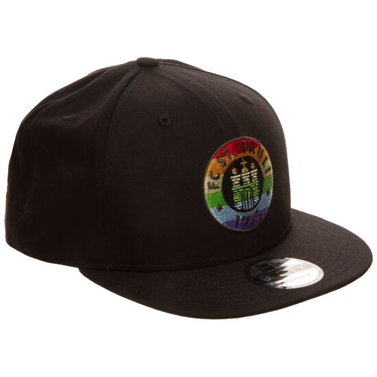 9FIFTY FC St. Pauli Regenbogen Snapback Cap, schwarz / bunt, zoom bei OUTFITTER Online