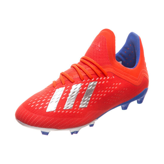 X 18.1 FG Fußballschuh Kinder, rot / silber, zoom bei OUTFITTER Online
