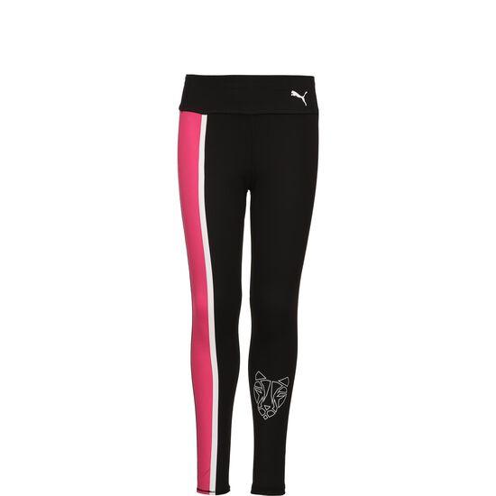 Runtrain Leggings Kinder, schwarz / pink, zoom bei OUTFITTER Online