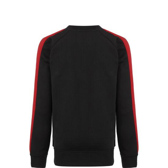 Crew Sweatshirt Kinder, schwarz / rot, zoom bei OUTFITTER Online