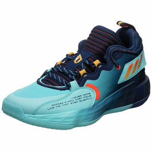 Dame 7 EXTPLY Basketballschuh Herren, dunkelblau / hellblau, zoom bei OUTFITTER Online