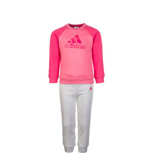 Logo Jogger Trainingsanzug Kleinkinder, pink / grau, zoom bei OUTFITTER Online