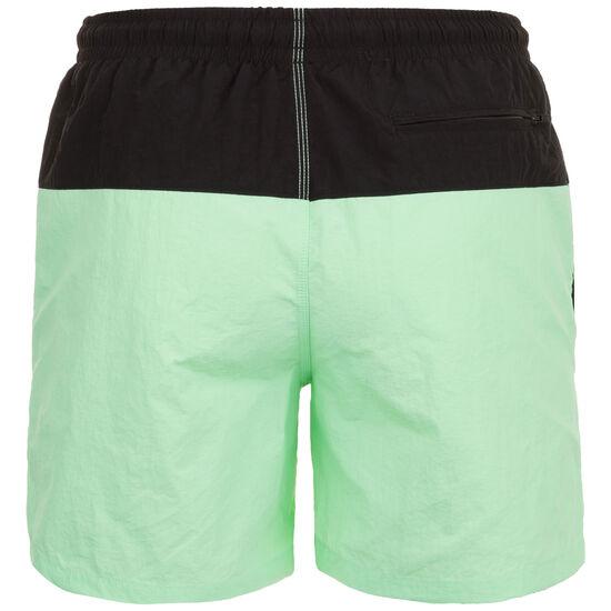 Block Swim Short Herren, schwarz / mint, zoom bei OUTFITTER Online