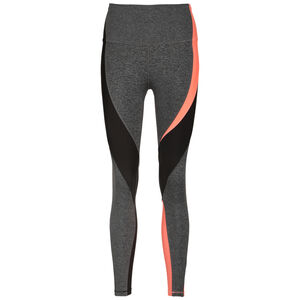 Lux High Rise Trainingstight Damen, grau / korall, zoom bei OUTFITTER Online