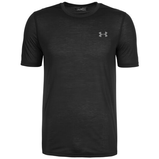 HeatGear Threadborne Fitted Trainingsshirt Herren, schwarz, zoom bei OUTFITTER Online