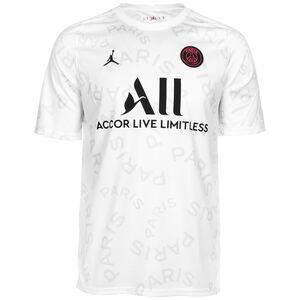 Paris St.-Germain Breathe Pre-Match Trainingsshirt Herren, weiß / schwarz, zoom bei OUTFITTER Online
