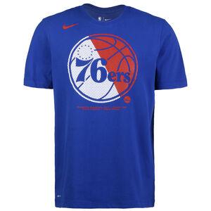 NBA Philadelphia 76ers Dry Logo T-Shirt Herren, blau / rot, zoom bei OUTFITTER Online