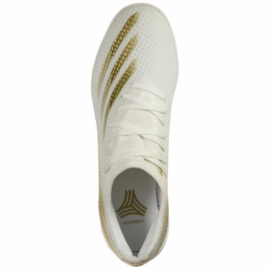 X Ghosted.3 Indoor Fußballschuh Herren, weiß / gold, zoom bei OUTFITTER Online
