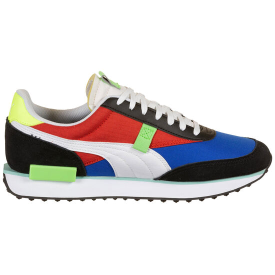 Future Rider Play On Sneaker, blau / neongrün, zoom bei OUTFITTER Online