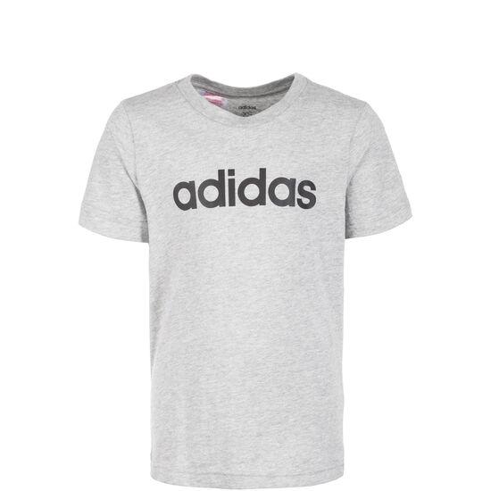 Essentials Linear Trainingsshirt Kinder, grau / schwarz, zoom bei OUTFITTER Online