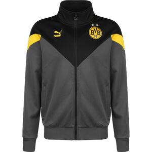 Borussia Dortmund Iconic MCS Track Jacke Herren, dunkelgrau / schwarz, zoom bei OUTFITTER Online