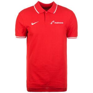 Mainova Polo TM Club19 SS Poloshirt Herren, rot / weiß, zoom bei OUTFITTER Online