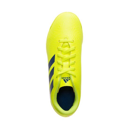 Nemeziz 18.4 Indoor Fußballschuh Kinder, neongelb / blau, zoom bei OUTFITTER Online