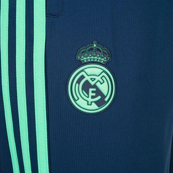 Real Madrid Trainingshose Herren, dunkelblau / türkis, zoom bei OUTFITTER Online