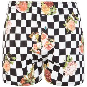 Floral Check Out Boxershorts Herren, schwarz / weiß, zoom bei OUTFITTER Online