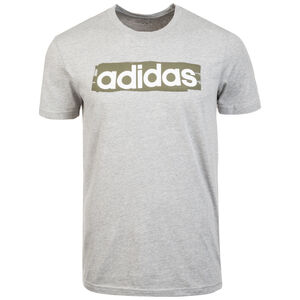 Linear Brush T-Shirt Herren, grau / weiß, zoom bei OUTFITTER Online