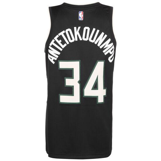 NBA Milwaukee Bucks Antetokounmpo Swingman Basketballtrikot Herren, schwarz, zoom bei OUTFITTER Online