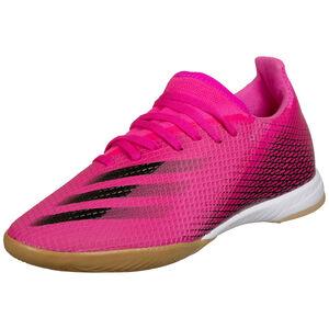 X Ghosted.3 Indoor Fußballschuh Herren, pink / schwarz, zoom bei OUTFITTER Online